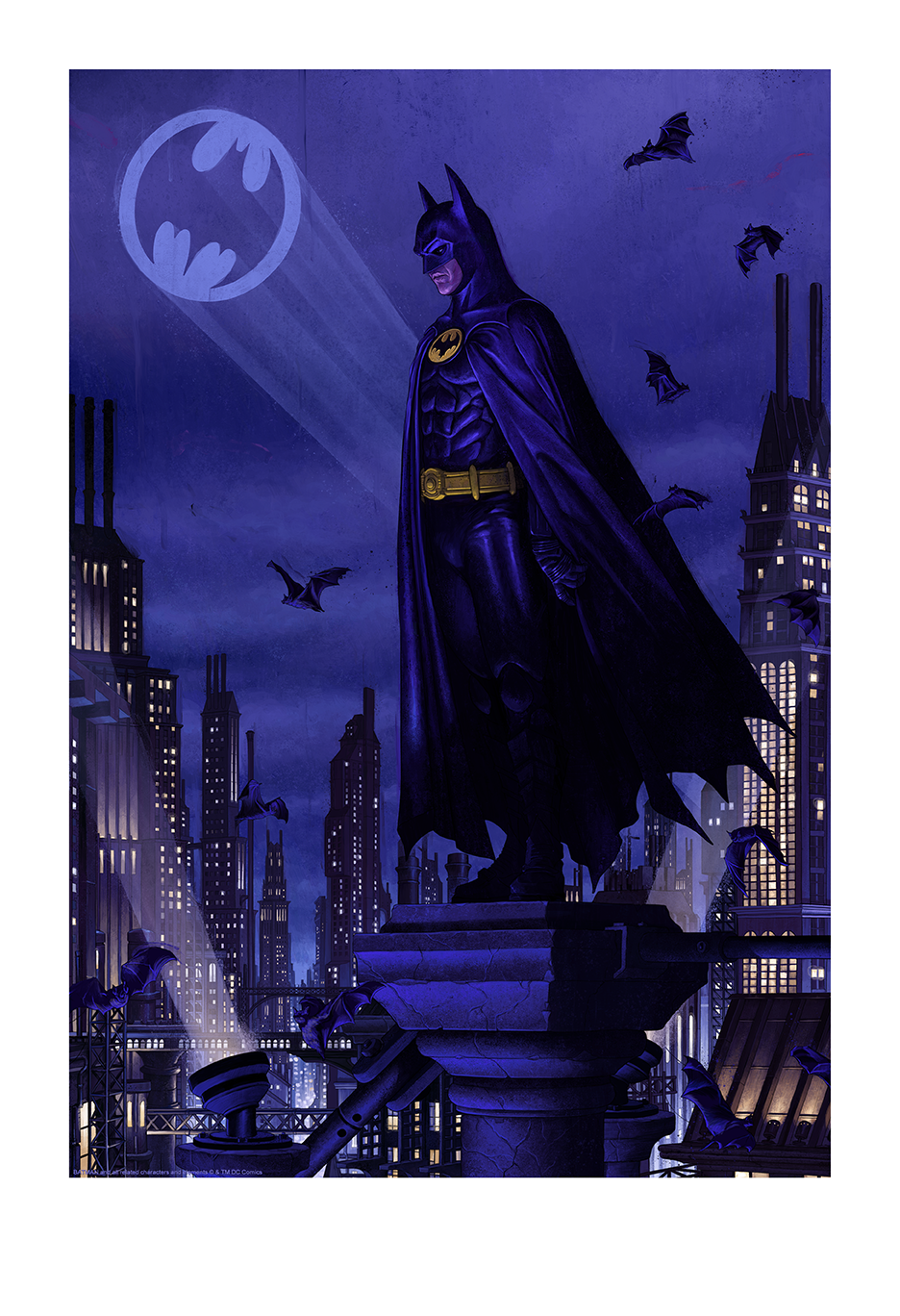"Rory Kurtz ""Ikonescape: Batman"" giclee with embossment, 13 x 19 inches, numbered edition of 350, available for $75"