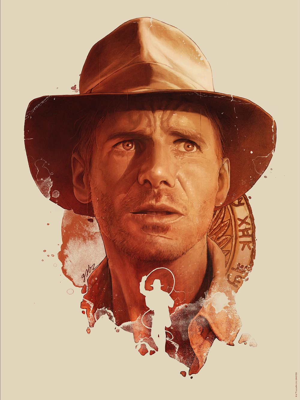 "Gabz ""Indiana Jones"" giclee, 18 x 24 inches, numbered edition of 200, co-released with Acme Archives, available for $45"