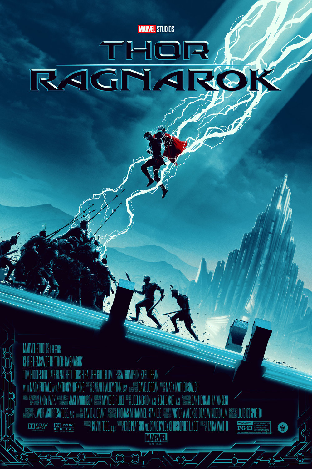 "Matt Feguson ""Thor: Ragnarok"" screen print, 24 x 36 inches, timed release, co-Released with Grey Matter, available for $50"